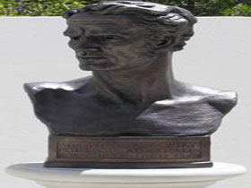 Adam Lindsay Gordon Bronze Bust - SA Accommodation