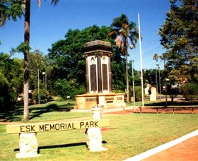 Esk War Memorial and Esk Memorial Park - SA Accommodation