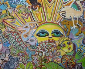 The Painting of Life by Mirka Mora - SA Accommodation