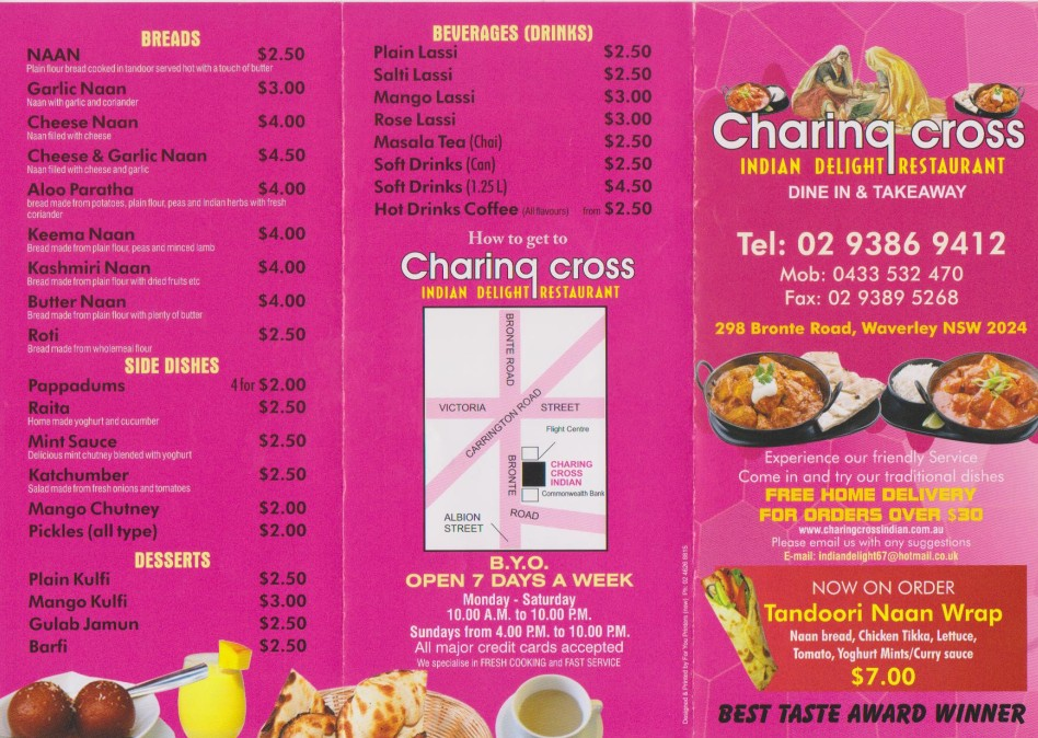 Charing Cross Indian Delight Restaurant - SA Accommodation